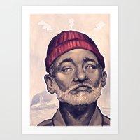 zissou Art Prints featuring Zissou by DC Bowers