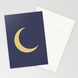 Crescent Moon Sky Pattern Stationery Cards