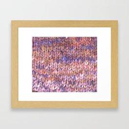 Knitter Framed Art Print