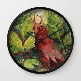 little devil in the greenhouse Wall Clock