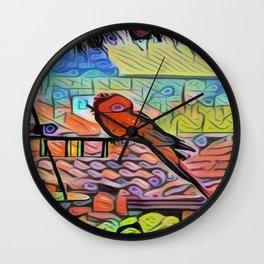 Parrot from Guatemala Wall Clock