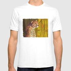 Cheetah White MEDIUM Mens Fitted Tee