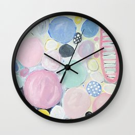 Mixed Lollies Abstract Wall Clock