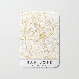 SAN JOSE CALIFORNIA CITY STREET MAP ART Bath Mat