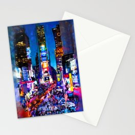 New York at Night Stationery Cards