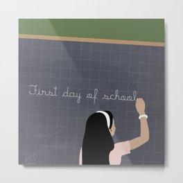 First day of school Metal Print