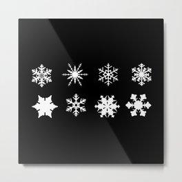 Snowflake Collection Metal Print