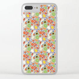 Fun Fruit and Veges Clear iPhone Case