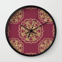 Golden Flor Wall Clock