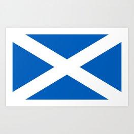 Flag of Scotland - Scottish Flag Art Print