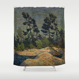 Tom Thomson - Byng Inlet, Georgian Bay - Canada, Canadian Oil Painting - Group of Seven Shower Curtain