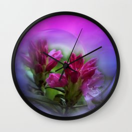 the smell of rhododendron Wall Clock