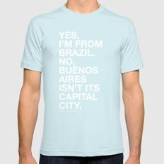 From Brazil II Mens Fitted Tee Light Blue SMALL