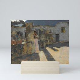 "John Singer Sargent ""Capri Girl on a Rooftop"" Mini Art Print"