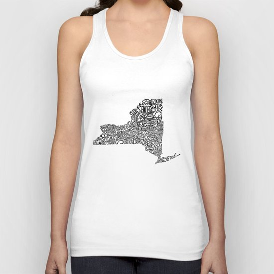 Typographic New York Unisex Tank Top