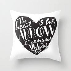 Heart is an Arrow - Six of Crows design Throw Pillow