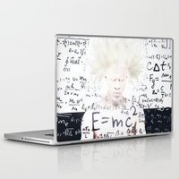 einstein Laptop & iPad Skins featuring einstein by Taranta Babu
