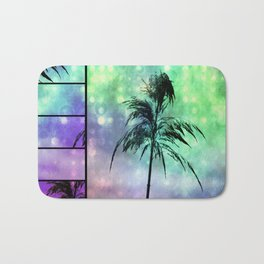 Grass Collage Purple & Green Lights Bath Mat