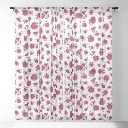 Berry Shadow Bloom Sheer Curtain