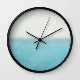 Horizontal Misty Ocean Wall Clock