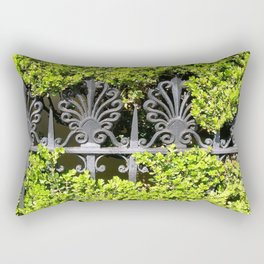 Ironwork in the Hedge Rectangular Pillow
