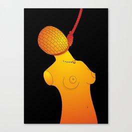 Hanged Ladies Orange Canvas Print