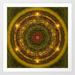 Happiness Mandala Art Print