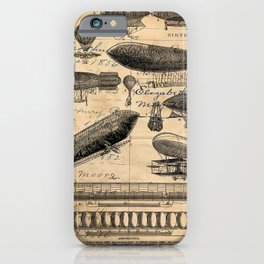 Vintage Hot Air Balloon Study iPhone Case