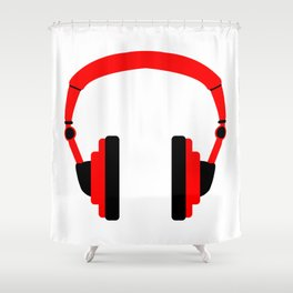 Pair Of Headphones Shower Curtain