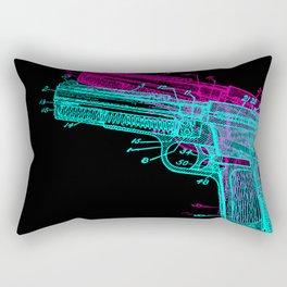 Gun Diagram Rectangular Pillow