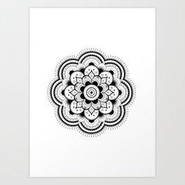 Camellia Mandala Art Print