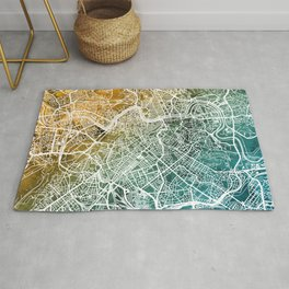 Rome Italy City Map Rug
