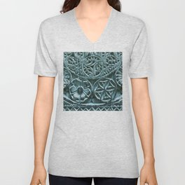 Vintage Carved Wood From India Unisex V-Neck
