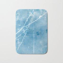 Nature's Graphics Blue Cyanatope Print Bath Mat