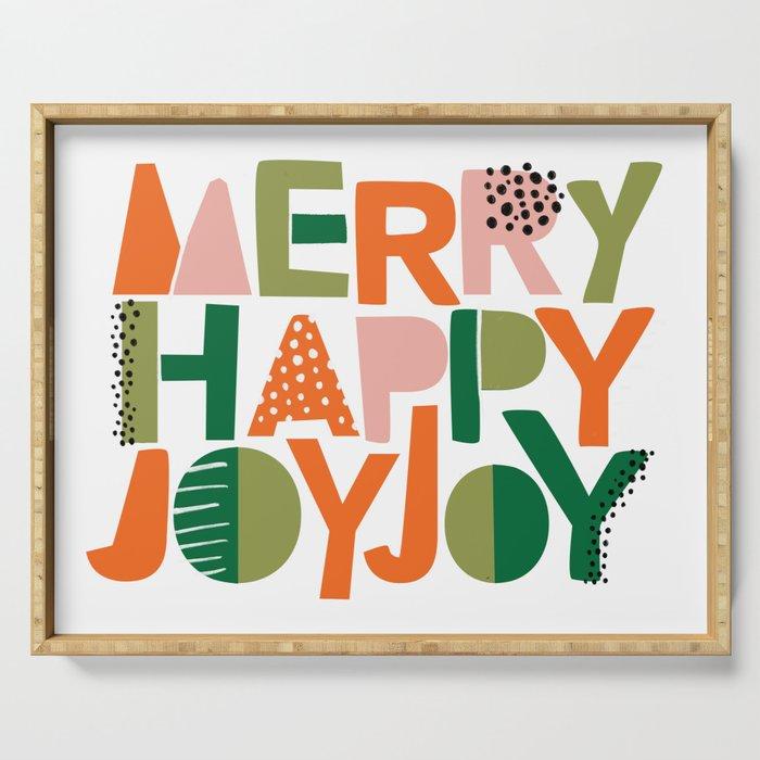 Merry Happy Joy Joy Serving Tray