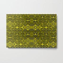2305 Pattern yellowblack Metal Print