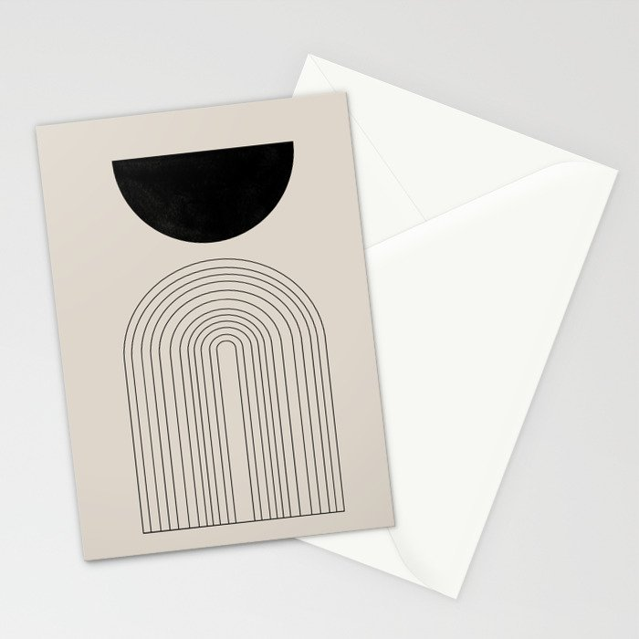 Arch, geometric modern art Stationery Cards