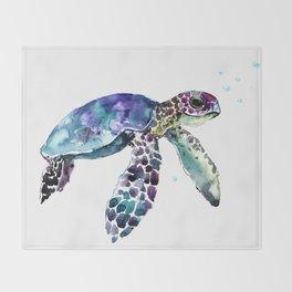Sea Turtle, Baby Turtle animal artwork for children Throw Blanket