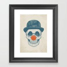 Dead clown Framed Art Print
