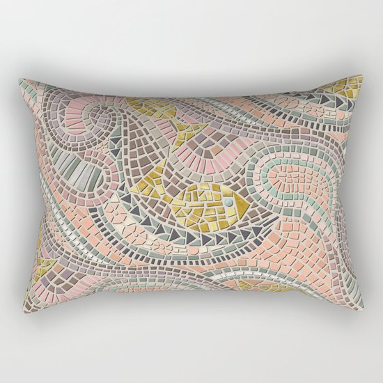mosaic fish pastel Rectangular Pillow