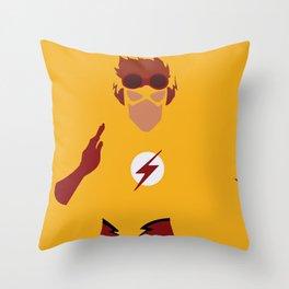 Wally West Minimalism Throw Pillow
