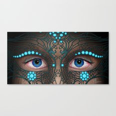 Halloween Mask - Painting Canvas Print