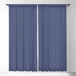 Valspar America Enchanted Navy Blue 4010-8 Solid Color Blackout Curtain