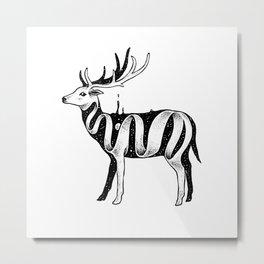 Lost in Its Own Existence (Deer) Metal Print