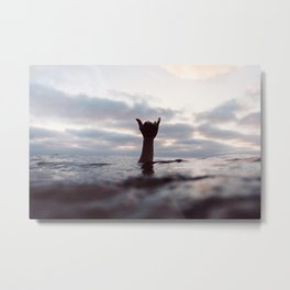 Water Shaka / Hang Loose / Right On / Aloha Metal Print