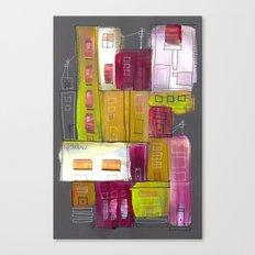 Pink Village Canvas Print