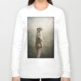 The Watcher on the post... Long Sleeve T-shirt