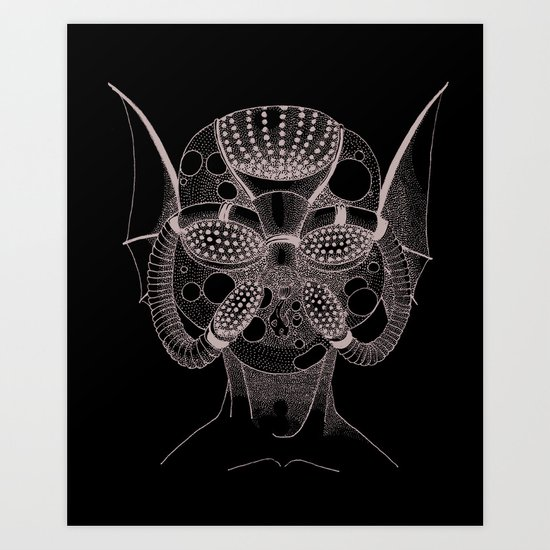 Masque de l'Eau (Water Mask) Art Print