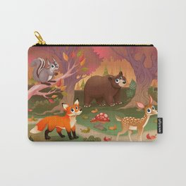 Funny animals in the wood Carry-All Pouch