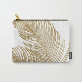 Palm Leaves Finesse Line Art with Gold Foil #2 #minimal #decor #art #society6 Carry-All Pouch
